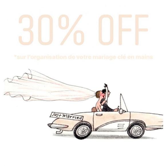 30% de réduction sur votre mariage, ça vous tente ?